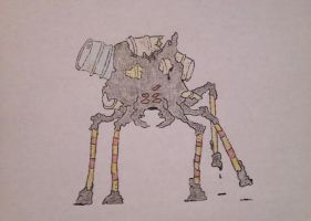 Oil drum spider by VaughnVicious