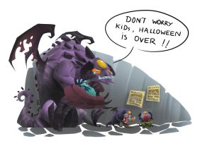 A dramatic Halloween for Roshan by MeoMoc