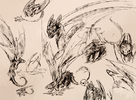 toothless sketches by Diamondfeathers