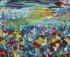 Flower field by ARTBYTERESA