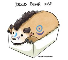 Druid bear loaf by kagesatsuki