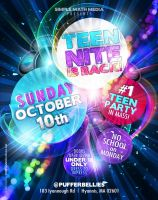 Teen Nite Flyer by AnotherBcreation
