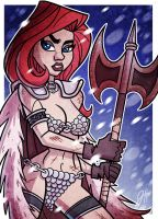 Commish - Red Sonja by JoeHoganArt