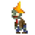 Day #53 - Conehead Zombie by JINNdev