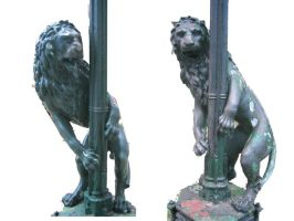 stock lion sculpture by elisafox-stock