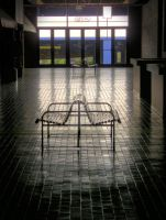 Bench at Galleria HDRI by redtailhawker