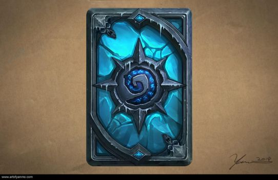 Card Back Design of Hearthstone, The Lich King by YanmoZhang