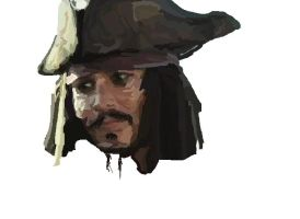 MS-Paint- Jack Sparrow WIP 3 by mel-lyks-cereal