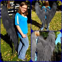 Nightvale Black Angel Wings by ThePinkPoudo