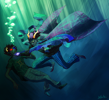 Sea Dwellers Don't Play Well With Land Dwellers by The-EverLasting-Ash