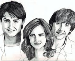 Golden Trio by cherieangejade