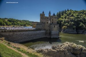 Castle and River by Aneede