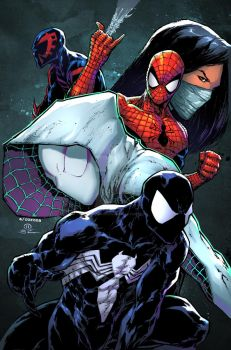 Spidey universe print color by adelsocorona