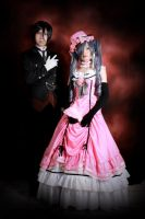 Sebastian an Lady Ciel cosplay by HarleQuinnThirteen