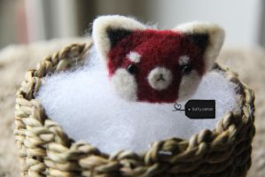 Needle felted red panda (for sale) by FluffyParcel