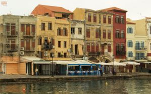 Autumn in the old Venetian port of Chania VI by BillyNikoll