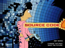 Futurama - Amy Wong - Source Code Movie Poster by RobotHellboy1114