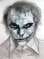 Joker - Heath Ledger Tribute - by Aghief
