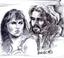 Xena and Ares by napalmnacey