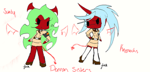 Demon Sisters :CHIBI: by Frosted-Aqua