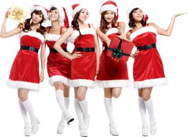 Wonder Girls PNG Render (X-MAS) by classicluv