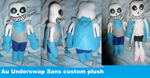 Underswap Sans custom plush by AshleyFluttershy
