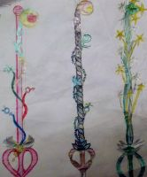 Sailor moon Keyblades by nnf247