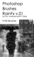 Shades Rain Fx v.01 HD Photoshop Brushes by shadedancer619