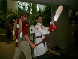 Snipes and Medic cosplay by FullmetalDevil
