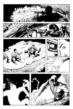 Deadshot Page 2 Inks by craigcermak
