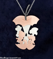 Apples to the Core Pendant by SilverSlinger