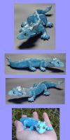 Blue Baby Dragon Sculpture by VeroRamos