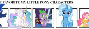 Top 5 Favorite MLP Characters by hmcvirgo92