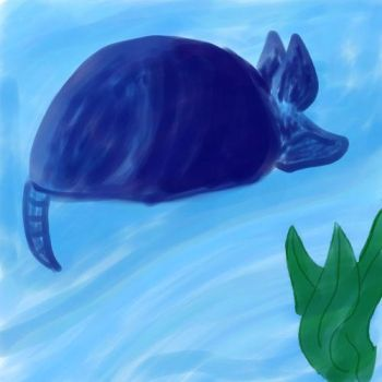 Andrew the Blue Armadillo by Falcon0281