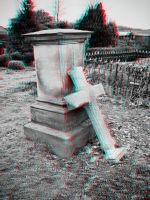 Broken Tombstone 3-D conversion by MVRamsey