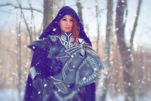 Skyrim.Imperial in ebony armor_3 by Elen-Mart