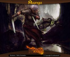 Moonga - Unleashed Knight of Shadows by moonga