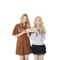 Red velvet Irene and Joy K wave png by hyukhee05