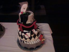 Phantom of the Opera Cake by sistermoonkitten
