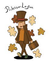 Professor Layton for the 9th Time by TheLaytonmobile