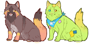 Katze and Hodensack Adoptables SOLD by Kiboku