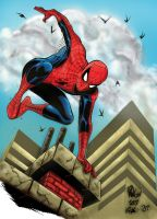 jumping Spidey by SpiderGuile