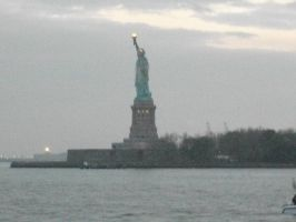 Statue of Liberty from a distance by Andriel3