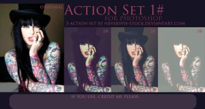 1 Set Action Photoshop - 3 Effects by Neveryph-stock