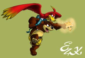 Banjo y Kazooie by t-bone-0
