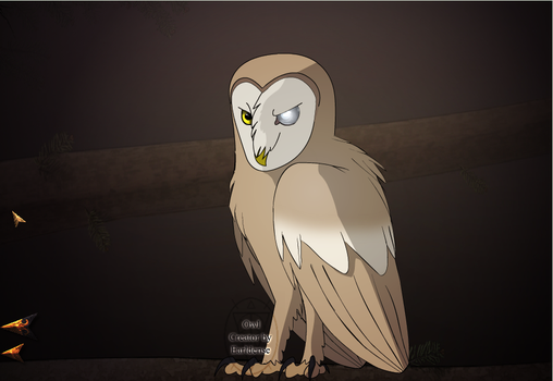 the Barn Owl From Once Upon A Forest by Guardianowlbubo