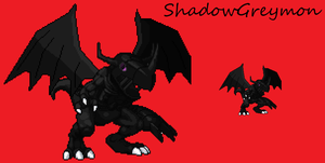 ShadowGreymon Sprite by scott910