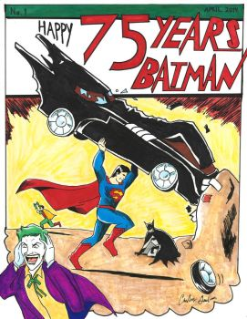 HAPPY 75 YEARS BATMAN!!! - From Superman by WibbitGuy