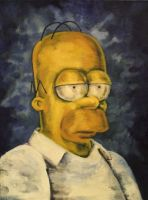 Homer Simpson by Fruksion