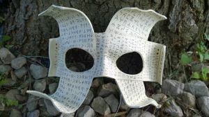Runic Scrolls Leather Mask by A-S-Thompson